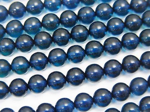 ブルーカラーアンバー(琥珀) ラウンド5mm 1/4連〜1連(約38cm)