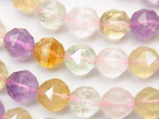 天然石卸 ◆特価◆いろんな天然石AA++ スターラウンドカット10mm 半連/1連(約38cm)