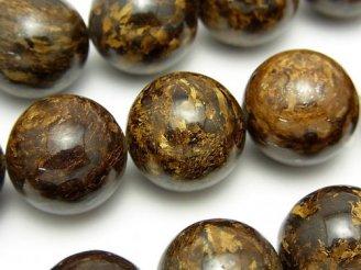 天然石卸 ブロンザイトAAA 大粒ラウンド18mm 1/4連〜1連(約36cm)