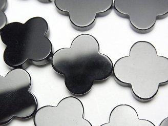 天然石卸 オニキス フラワーモチーフ18×18×4mm 1/4連〜1連(約35cm)