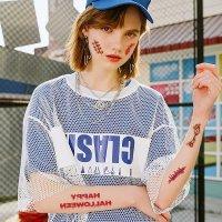 【ハロウィン装飾】ハロウィン 傷跡シール 1枚【喉流血 ゾンビ 偽傷跡】