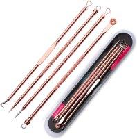 【巻き爪や甘皮ケアに】foot care kit 4本セット ピンクゴールド ケース付き フットケアキット