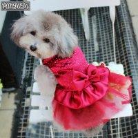【パーティードレス】ペット用 レーススカート