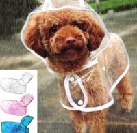 【レインコート クリア×ホワイト】雨の日 お散歩 雨具