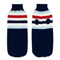 【3色 トリコロール ニット】ペット用 セーター XXXLサイズ タートルネック