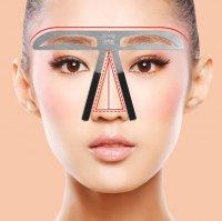 【眉毛ステンシル】眉毛 テンプレート ステンシル 定規