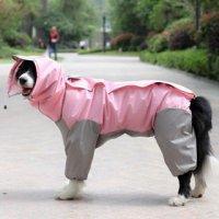 お取り寄せ【レインコート】ピンク 雨の日 お散歩 雨具【大型・中型犬用】