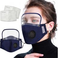 シールド&空気弁付きマスク【洗える布マスク】