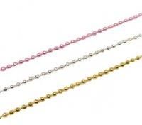 チェーンブリオン 1mm 全長20cm ピンク/ゴールド/シルバー