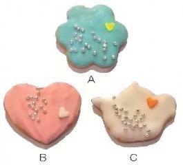 メッセージクッキーS プチ★プチギフト(カラー)