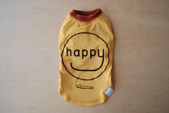 アウトラスト happy Tシャツ マスタード×ブラウン