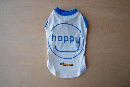 アウトラスト happy Tシャツ ホワイト×ブルー