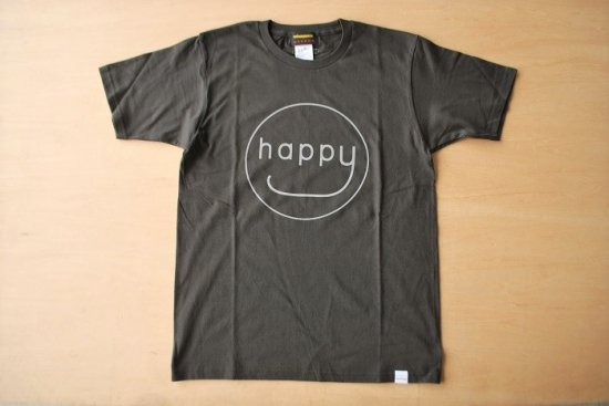 happy Tシャツ グレー