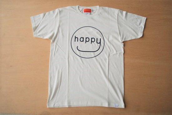 happy Tシャツ ホワイト