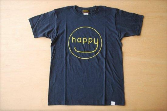 happy Tシャツ ネイビー