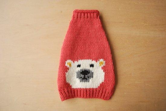 WHITE BEAR ドッグセーター ピンク