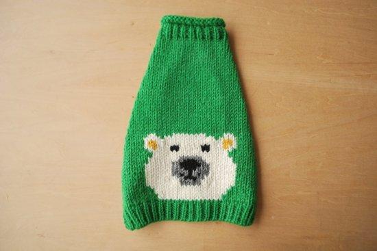WHITE BEAR ドッグセーター グリーン