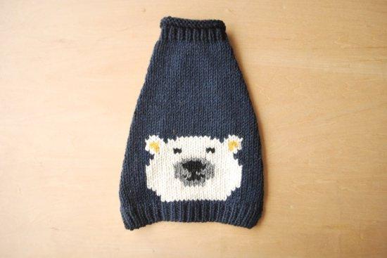 WHITE BEAR ドッグセーター ネイビー