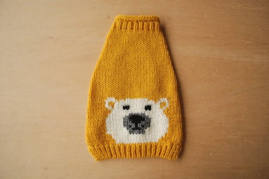 WHITE BEAR ドッグセーター イエロー