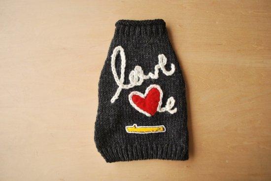 love me ドッグセーター チャコールグレー