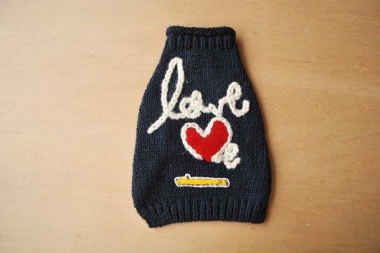 love me ドッグセーター ネイビー