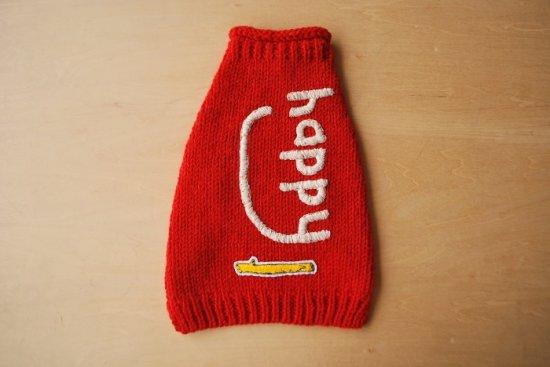 happy ドッグセーター レッド