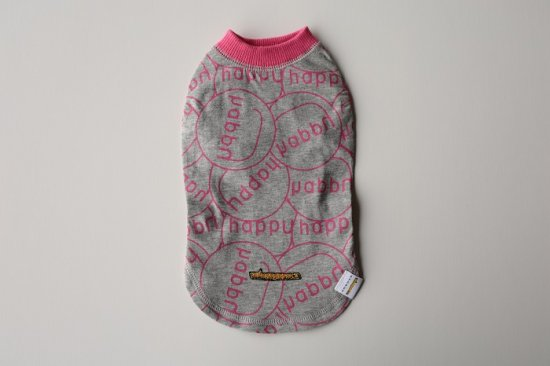 CLEANSE HAPPY Tシャツ ピンク/グレー