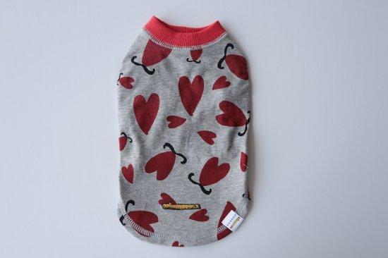 CLEANSE L&G HEART Tシャツ グレー