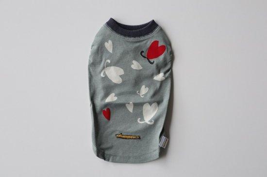 LENZING ECOVERO L&G HEART Tシャツ グレー
