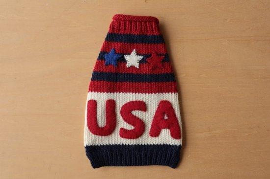U.S.A. ドッグセーター レッド