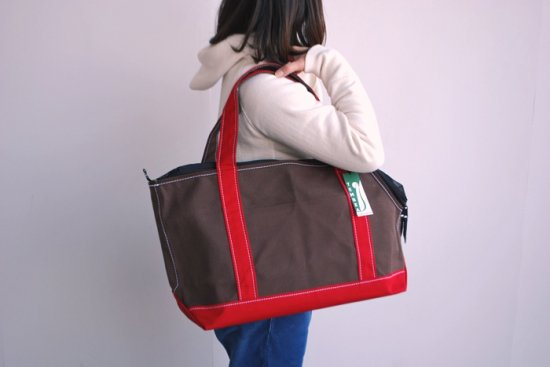 dogdeco×TEMBEA キャリーバッグ Mサイズ brown/red