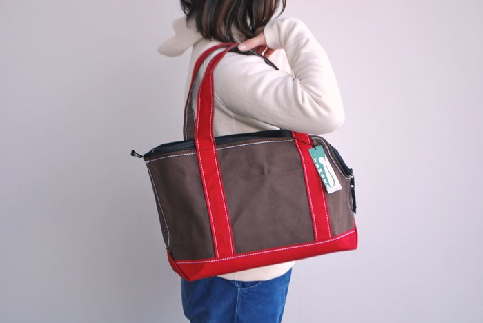 dogdeco×TEMBEA キャリーバッグ Sサイズ brown/red