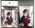 ●送料無料●フォト付きマスク(ピンク)【1枚】