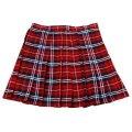 ●送料無料●TE-11SS スカート 色:朱赤×ネイビー×白 サイズ:LL