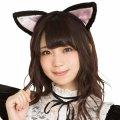 ●送料無料●猫耳カチューシャ 立ち耳 黒×ピンク
