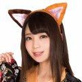 ●送料無料●猫耳カチューシャ 立ち耳 ミケネコ