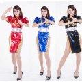 ●送料無料●光沢メタリック ストリートファイター 李春麗風衣装 リー チュンリー 色:選択可能 サイズ:選択可能