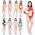 ●送料無料●ツルツル ニット グラビアアイドル衣装 トップ 指だしグローブ パンツの3点セット 色:選択可能 サイズ:選択可能