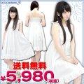 1155F★MB●送料無料●<即納!特価!在庫限り!> お出かけ白ワンピース 色:白 サイズ:M/BIG ■サマードレス■