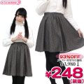 1252B▼<即納!特価!在庫限り!> Dona Pierce レディス ツイード スカート サイズ:M/L