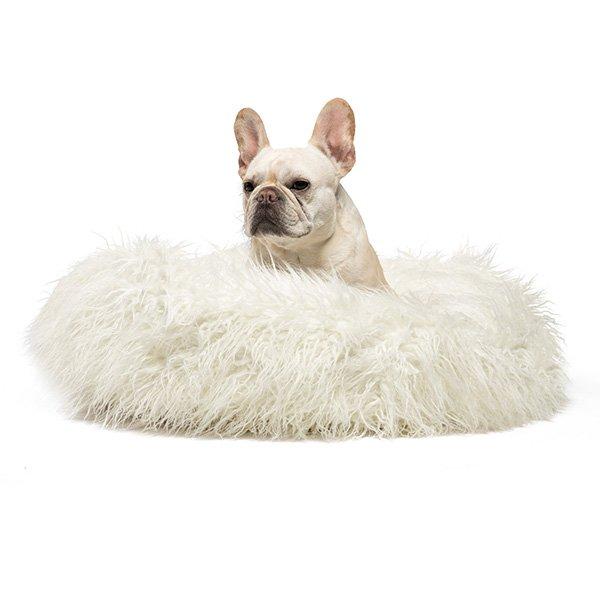 Donut Bed Mongolian Fur (Ivory)