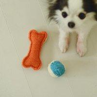 犬のおもちゃ へちまボール -loofah dental dog toy-