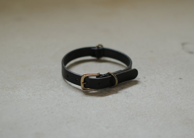 SMOOTH LEATHER COLLAR / Black - we original -【9/24まで送料無料!】