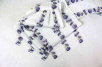 紫の花が爽やかなフリル帯