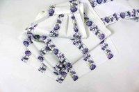 Berry工房オリジナル 紫の花が爽やかなフリル帯