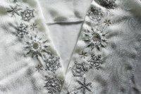 長い雪の結晶の刺繍半襟