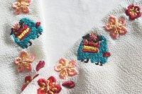 獅子舞の刺繍半襟