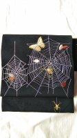 蜘蛛の巣刺繍名古屋帯