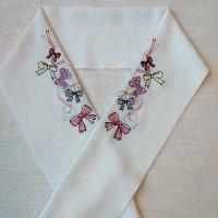 リボン刺繍半襟