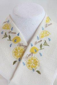 はちみつレモンの刺繍半襟